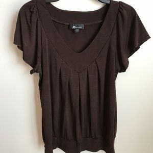 AB Studio Brown Top size Small